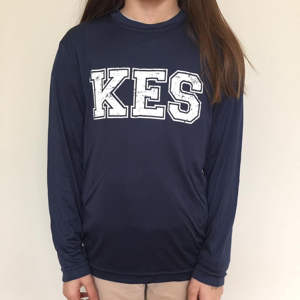 Navy Long Sleeve shirt with KES logo