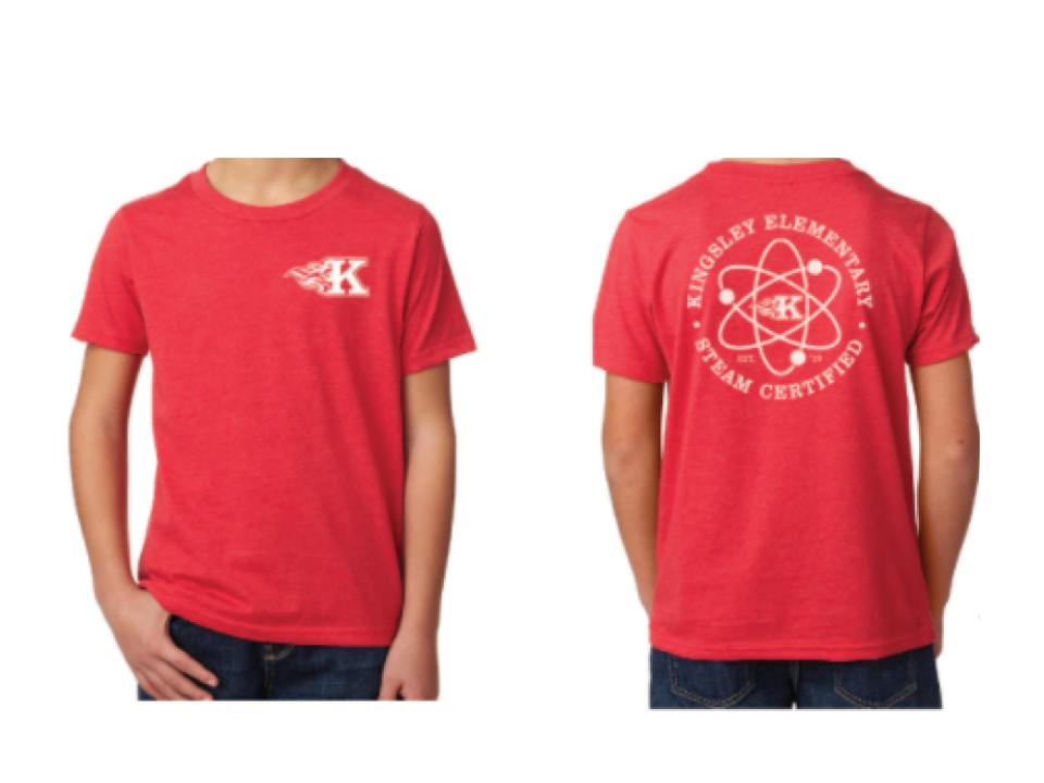 Red Shirt with Kingsley Steam Logo